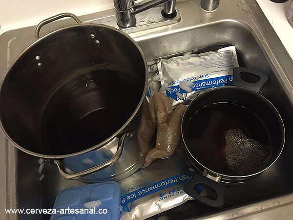 Enfriamiento de cerveza previo a fermentación