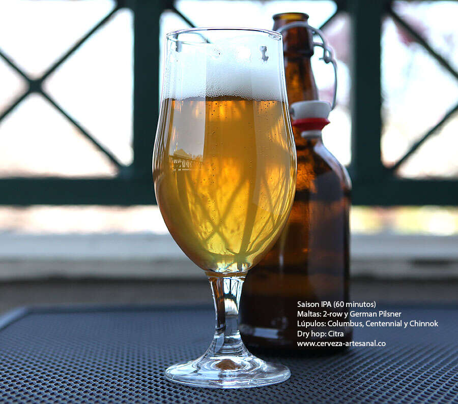 IPA – 60 minutos – lúpulos Columbus, Centennial y Chinook, con dry hop Citra
