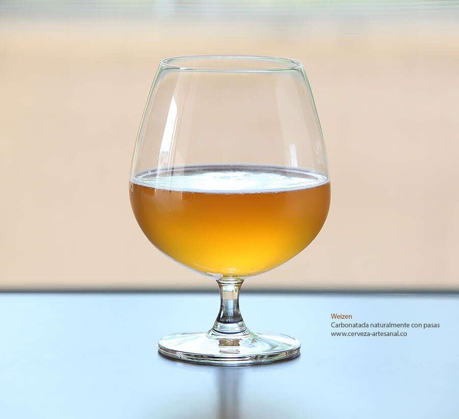 Carbonatación natural de cerveza con pasas
