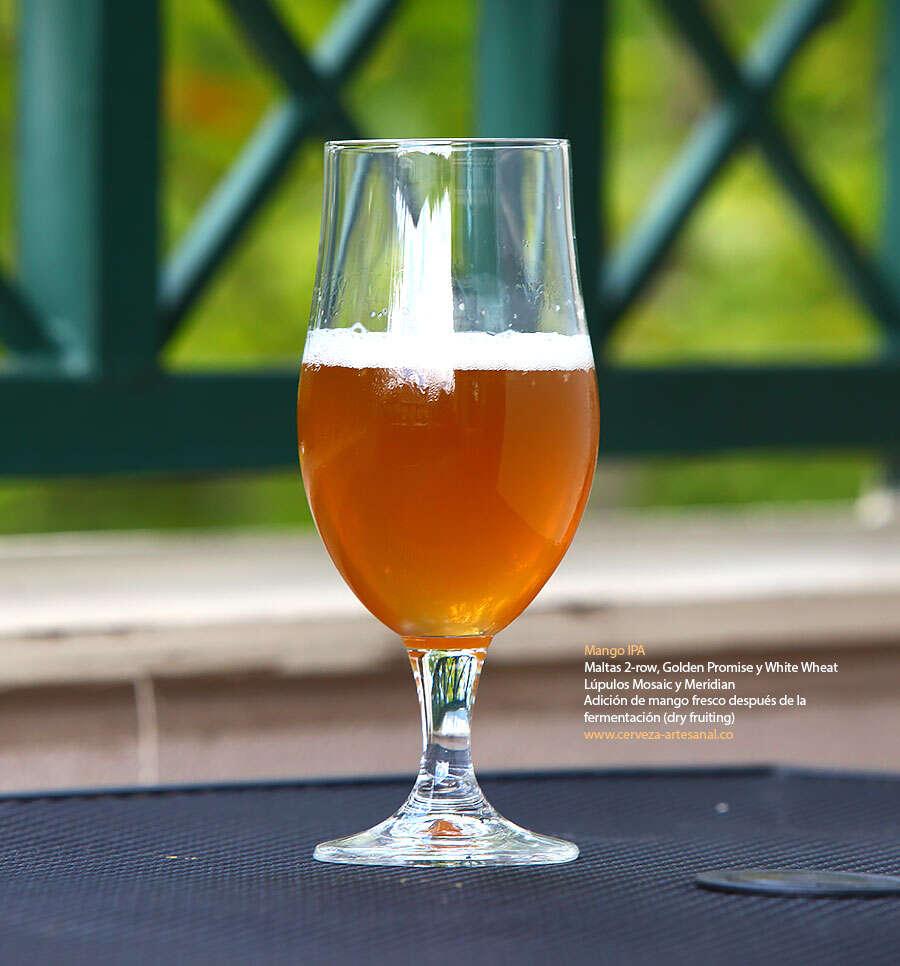 IPA con mango – Maltas 2-row, Golden Promise y White Wheat; lúpulos Mosaic y Meridian