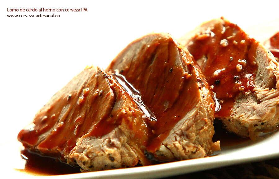 Lomo de cerdo al horno con cerveza IPA