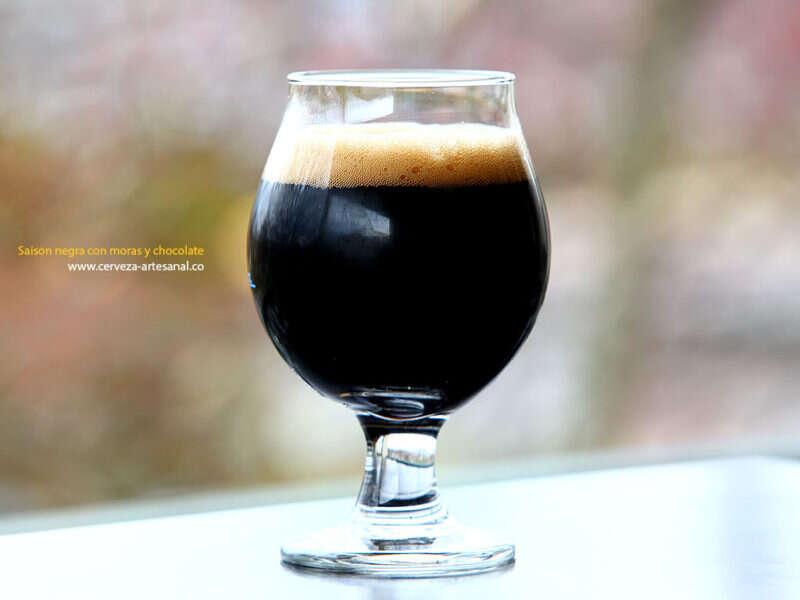 Dark belgian ale con moras y chocolate (90 minutos de cocción)