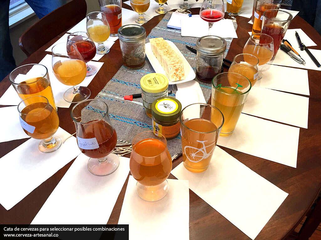 Mezcla de cervezas ácidas para balancear su sabor y añadir complejidad