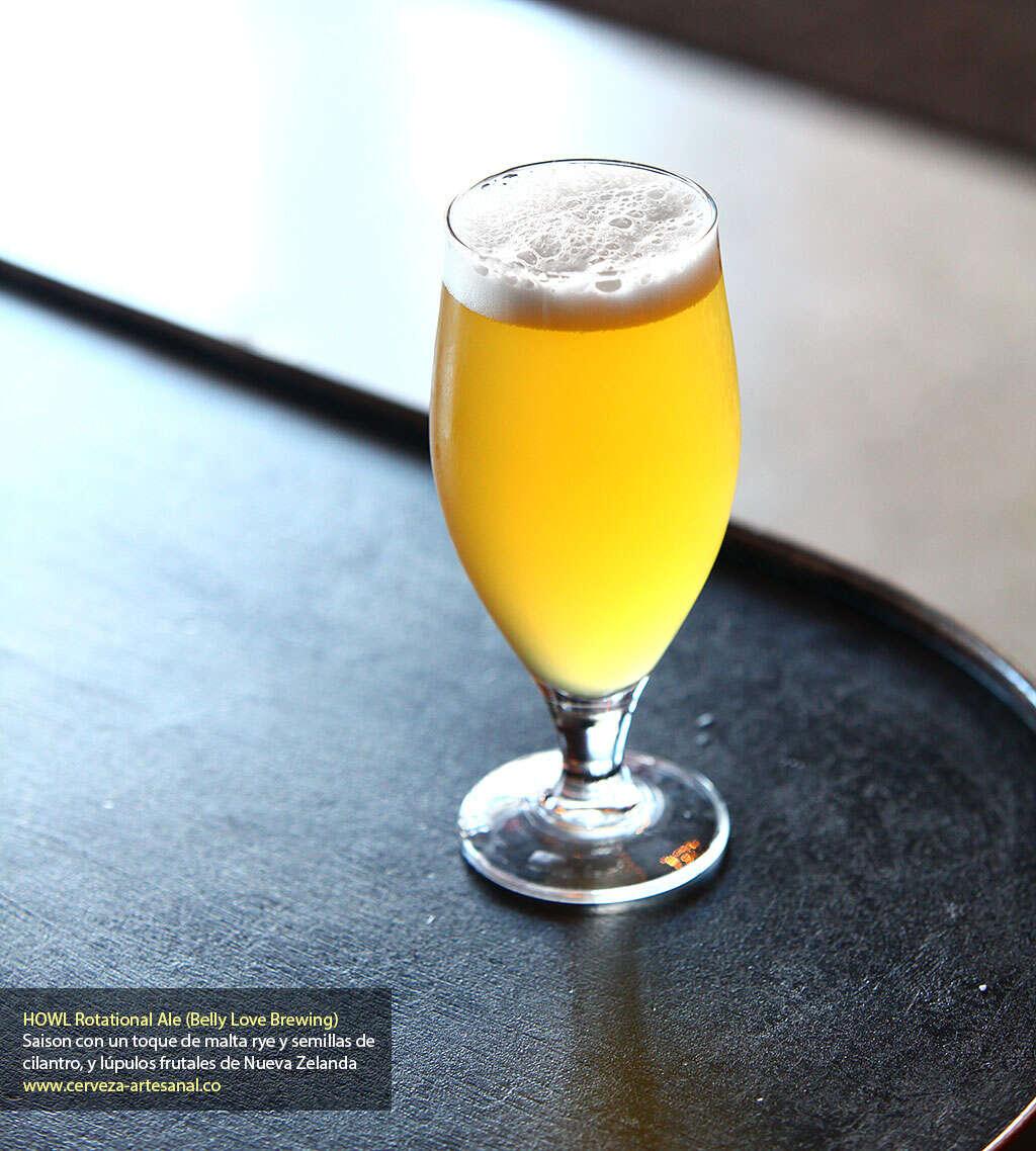 HOWL rotational ale fue lanzada este fin de semana en Belly Love Brewing
