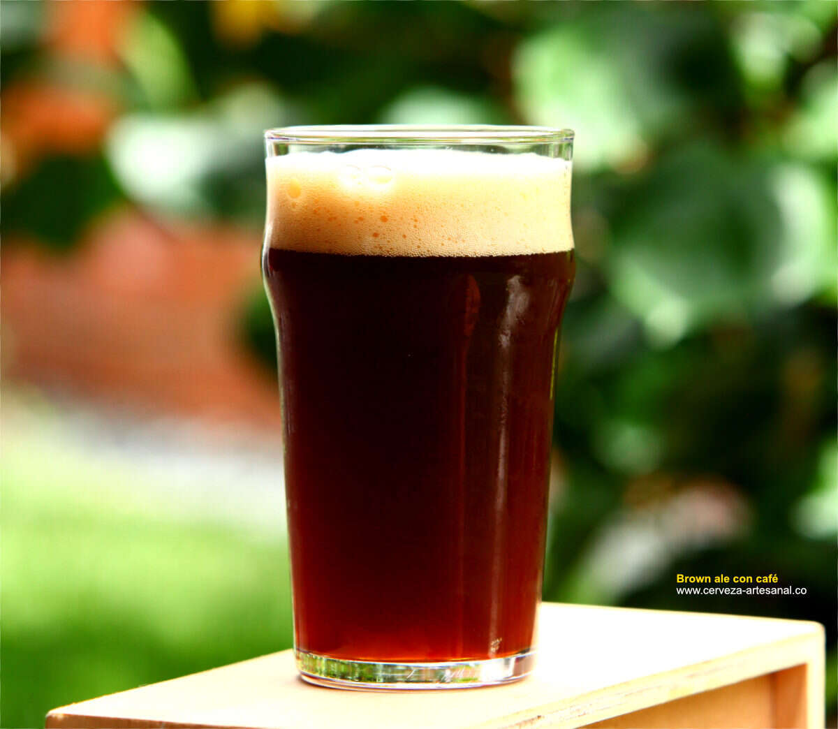 Brown ale con café