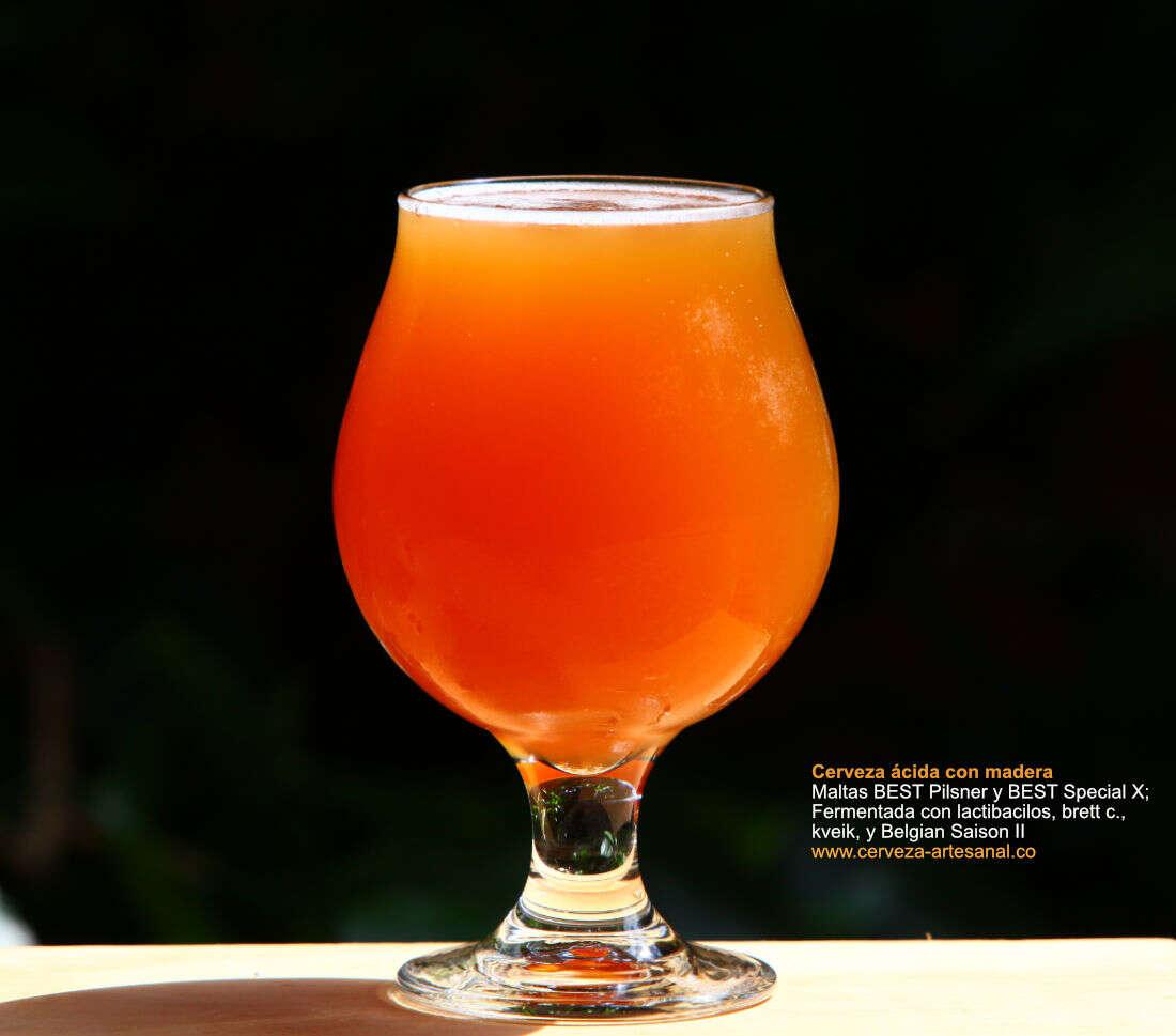 Cerveza ácida con madera