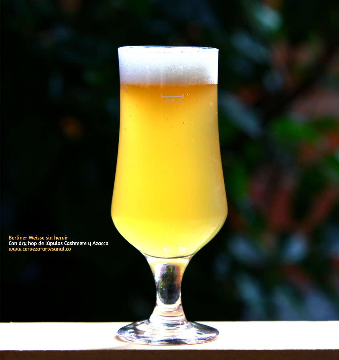 Berliner Weisse con dry hop de lúpulo Cashmere y Azacca